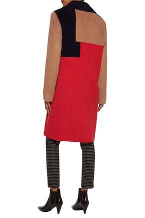 BELSTAFF Rollins paneled color-block wool and cashmere-blend coat