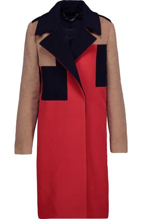 BELSTAFF Rollins paneled color-block wool and cashmere-blend coat
