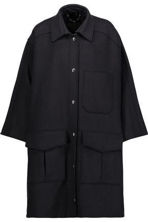 BELSTAFF Daisen leather-trimmed wool-blend felt cape