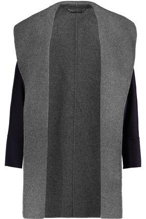 DIANE VON FURSTENBERG Parker two-tone wool-blend coat