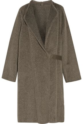 HELMUT LANG Belted alpaca and wool-blend coat