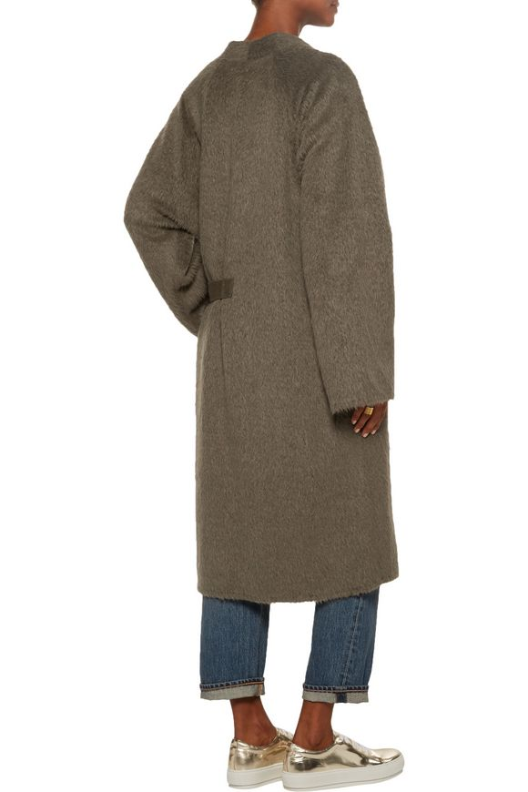 Belted alpaca and wool-blend coat | HELMUT LANG | Sale up to 70% off | THE  OUTNET
