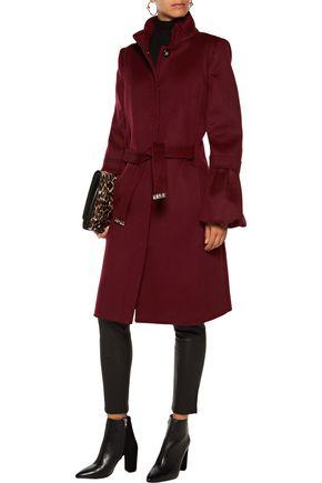 ROBERTO CAVALLI Fluted wool and cashmere-blend felt coat