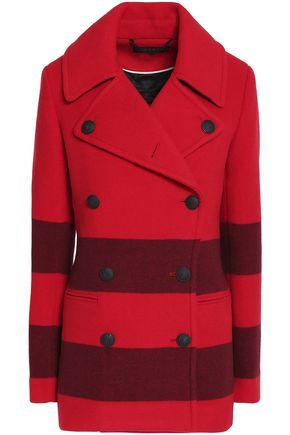 RAG & BONE Striped wool-blend coat