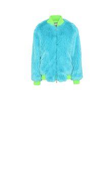 ALBERTA FERRETTI Faux fur fluo bomber jacket Fur Woman e