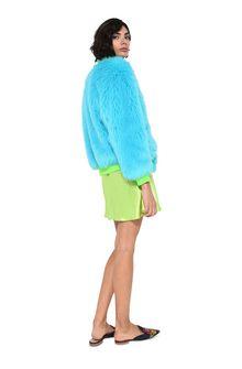 ALBERTA FERRETTI Faux fur fluo bomber jacket Fur Woman r