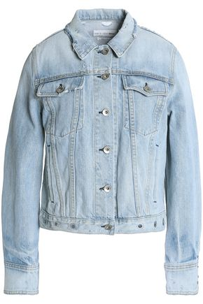 RAG & BONE Avenida eyelet-embellished distressed denim jacket