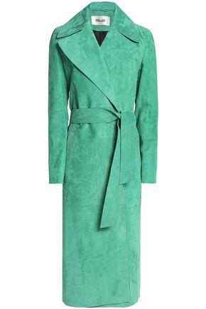 DIANE VON FURSTENBERG Belted wrap suede coat