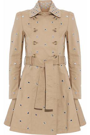 REDValentino Eyelet-embellished cotton-gabardine trench coat