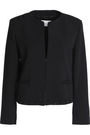 SANDRO Paris Embellished crepe jacket