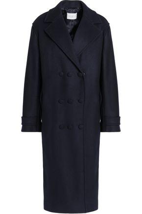 SANDRO Paris Comone wool-blend felt coat