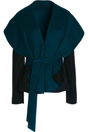 DIANE VON FURSTENBERG Belted boiled wool-blend jacket