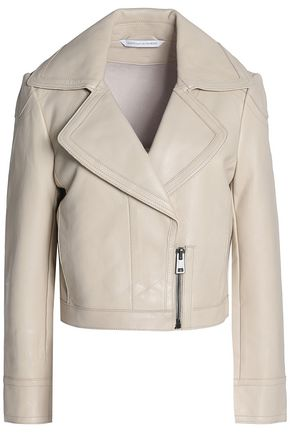 DIANE VON FURSTENBERG Leather biker jacket