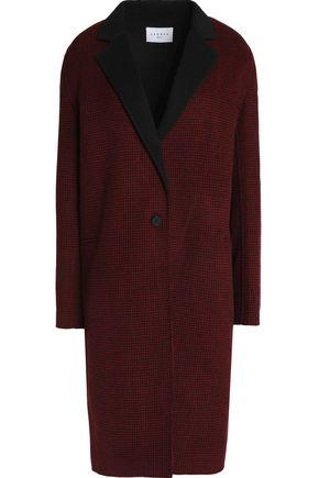 SANDRO Houndstooth wool-blend coat