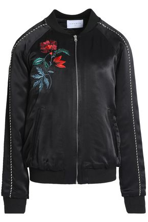 SANDRO Embroidered satin jacket
