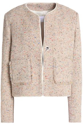 SANDRO Frayed tweed jacket