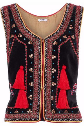 VILSHENKO Embellished cotton vest