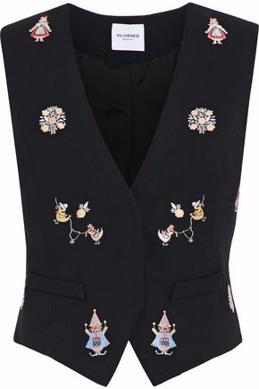 VILSHENKO Embroidered wool vest