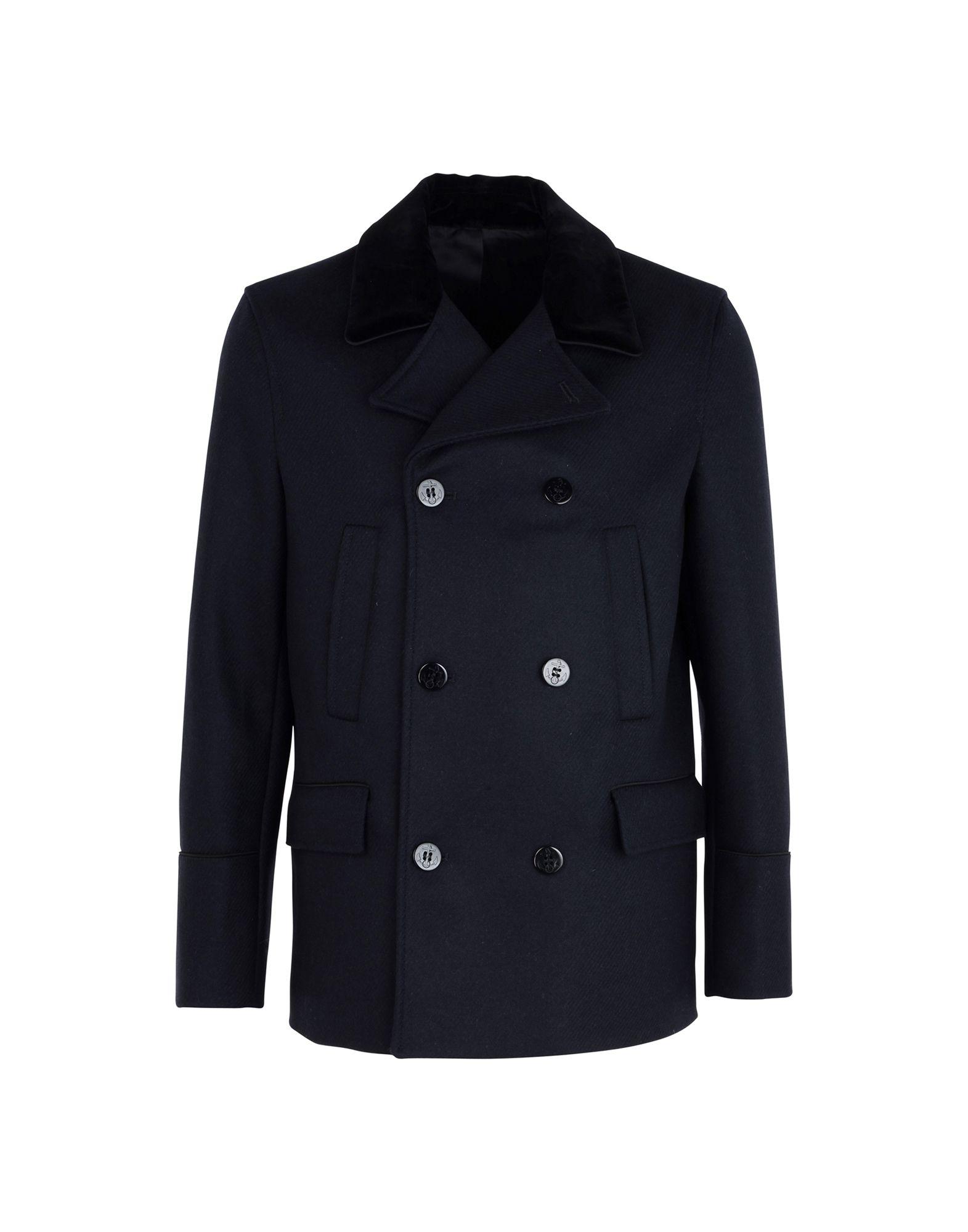 THE KOOPLES Пальто полуприлегающее пальто с натуральным мехом visconf