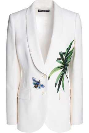 DOLCE & GABBANA Embellished wool blazer
