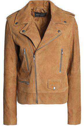NICHOLAS Suede biker jacket
