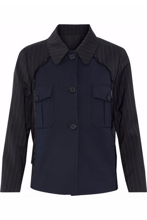MAISON MARGIELA Stripe-paneled virgin wool twill jacket
