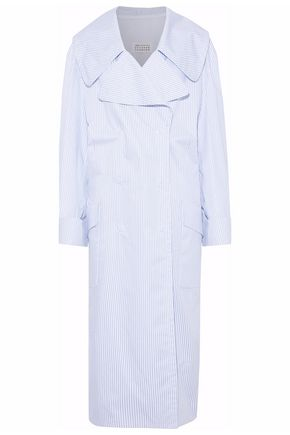 MAISON MARGIELA Striped cotton-poplin trench coat