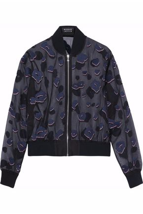 MARKUS LUPFER Embellished embroidered silk-organza jacket
