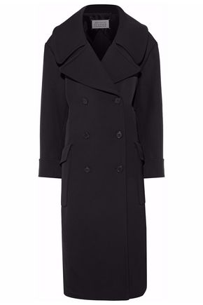 MAISON MARGIELA Double-breasted wool and cotton-blend twill coat