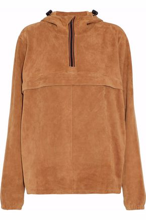 MAISON MARGIELA Suede hooded jacket
