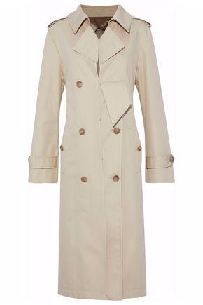 MAISON MARGIELA Distressed cotton-blend gabardine trench coat