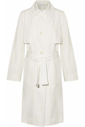 ROSETTA GETTY Cotton and silk-blend gabardine trench coat