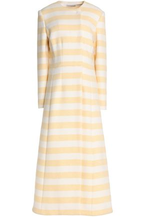 EMILIA WICKSTEAD Striped wool-blend coat