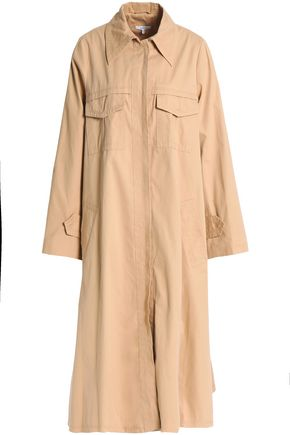 GANNI Cotton-twill trench coat