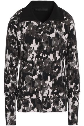 NORMA KAMALI Printed stretch-knit jacket