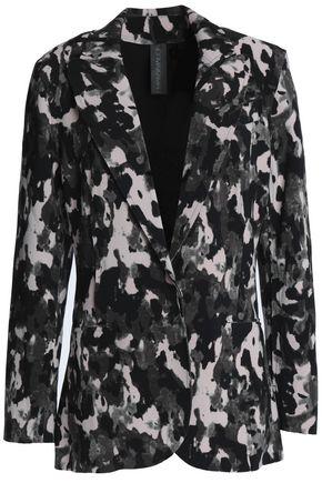 NORMA KAMALI Printed cady jacket