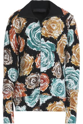 NORMA KAMALI Floral-print neoprene jacket