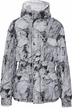 NORMA KAMALI Printed neoprene hooded jacket