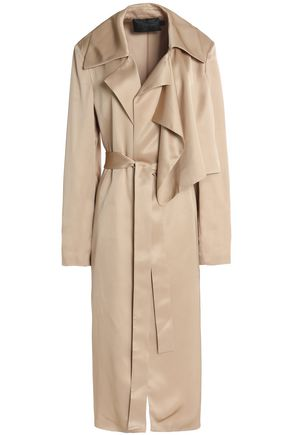CALVIN KLEIN COLLECTION Satin trench coat