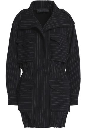 NORMA KAMALI Reversible pinstriped cady jacket