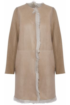 YVES SALOMON Reversible cashmere and wool-blend coat