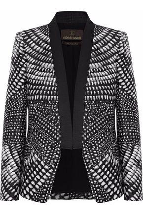 ROBERTO CAVALLI Printed duchesse-satin blazer
