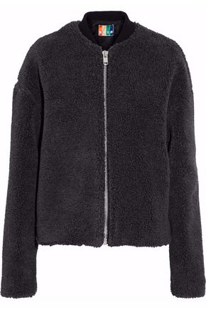 MSGM Faux shearling bomber jacket