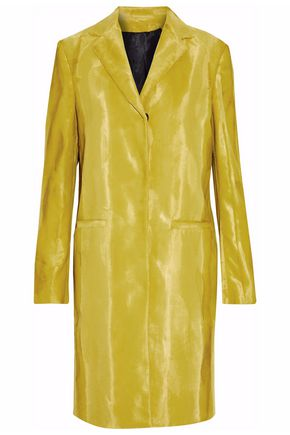 MSGM Cotton-blend faux fur coat
