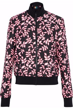 MSGM Printed cady bomber jacket