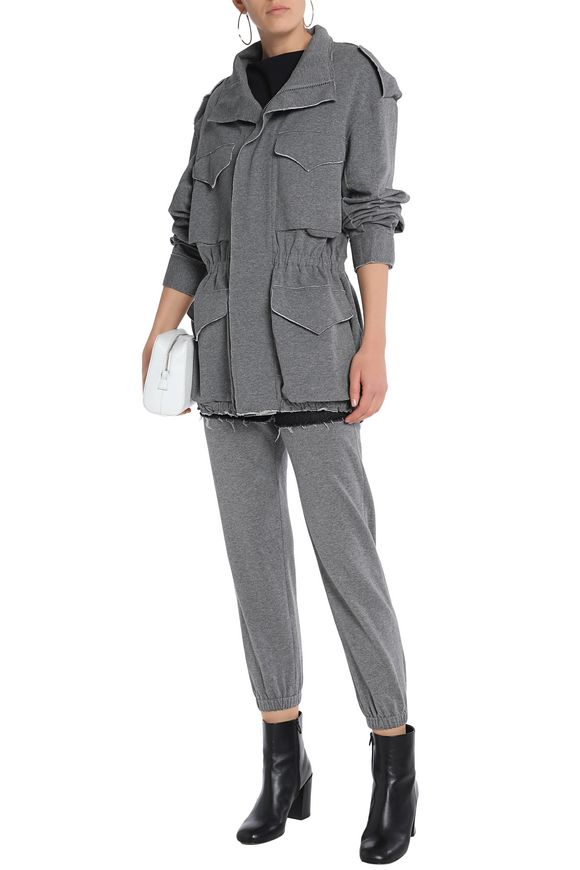 Gathered stretch-cotton jersey jacket | NORMA KAMALI | Sale up to 70% off |  THE OUTNET