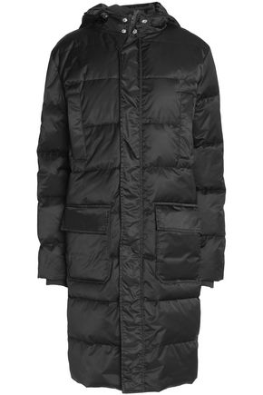 GANNI Quilted shell hooded coat