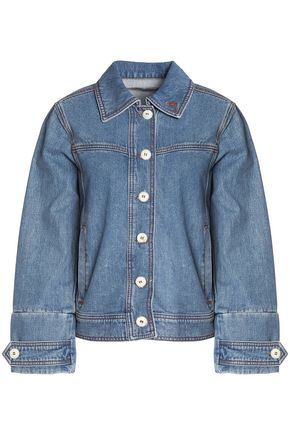 WOMAN DENIM JACKET MID DENIM