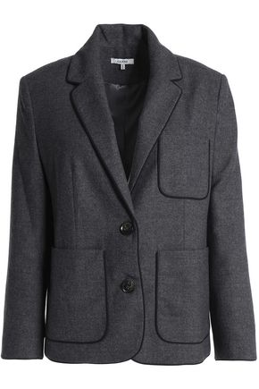 GANNI Wool and cashmere-blend blazer
