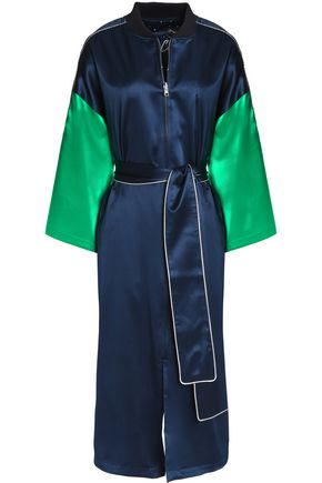 OPENING CEREMONY Reversible printed silk kimono